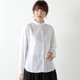 シャツ ブラウス レディース コットン100%の着回し丸襟ブラウス 「ホワイト」