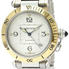 カルティエ  パシャ 38 K18 ゴールド ステンレススチール 自動巻き メンズ 時計 W31035T6 【中古】