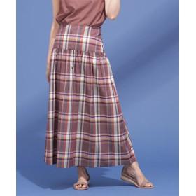 【nano・universe:スカート】カラーマドラススカート