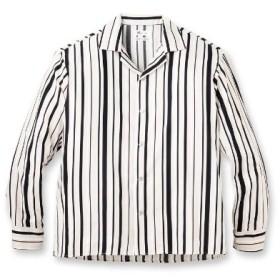 tk.TAKEO KIKUCHI(ティーケー タケオキクチ)マルチストライプオープンカラーシャツ