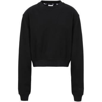 《セール開催中》REEBOK x VICTORIA BECKHAM レディース スウェットシャツ ブラック XS コットン 100% RBK VB CROPPED SWEATSHIRT