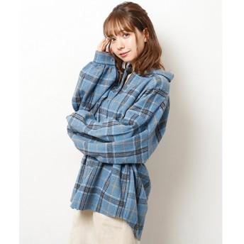 [マルイ]【セール】シャギーチェックビッグシャツ/レイカズン(RAY CASSIN)