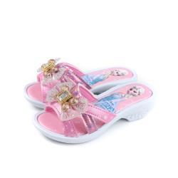 冰雪奇緣 Frozen Elsa Anna 拖鞋式涼鞋 低跟 粉紅色 中童 FOKS94033 no686