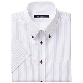 30%OFF【メンズ】 形態安定デザインYシャツ(半袖) - セシール ■カラー:パープル系 ■サイズ:5L,4L,3L