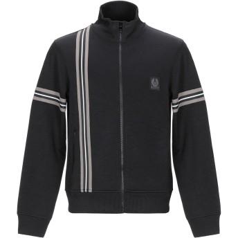 《期間限定セール開催中!》BELSTAFF メンズ スウェットシャツ ブラック L コットン 50% / ポリエステル 50%