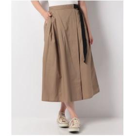 koe 配色ベルト付きスカート(ベージュ)【返品不可商品】