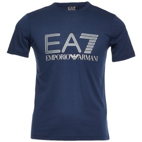 《期間限定セール開催中!》EA7 メンズ T シャツ ダークブルー XXS コットン 100%
