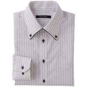 30%OFF【メンズ】 形態安定デザインYシャツ(ゆったりシルエット)(長袖) - セシール ■カラー:ライトグレー ■サイズ:43(裄丈82),43(裄丈84),50(裄丈88)