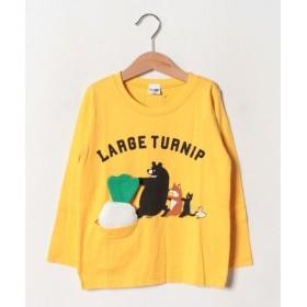 (&rooms./アンド ルームス)大きなかぶロングTシャツ/レディース イエロー