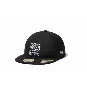 NEW ERA ニューエラ RC 59FIFTY ONEHUNDRED ATHLETIC ブラック × ホワイト ベースボールキャップ キャップ 帽子 メンズ レディース 7 (55.8cm) 12289169 NEWERA