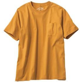 【レディース】 オーガニックコットン100%素材のクルーネックTシャツ(半袖) - セシール ■カラー:マスタード ■サイズ:S,5L,7L,LL,L,3L,M