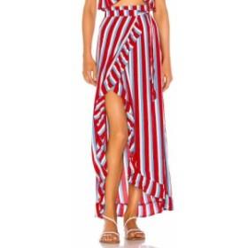 ラヴァーズフレンズ Lovers + Friends レディース スカート Waves For Days Wrap Skirt Americana Stripe