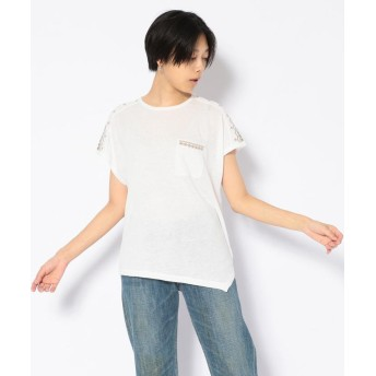 AVIREX Belle 刺繍アシメントリーTシャツ