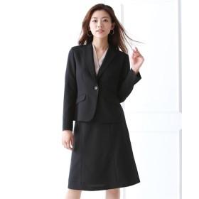 ゆったりバスト 洗える定番セミフレアスカートスーツ(+3cmバスト) (大きいサイズレディース)スーツ,women's suits ,plus size
