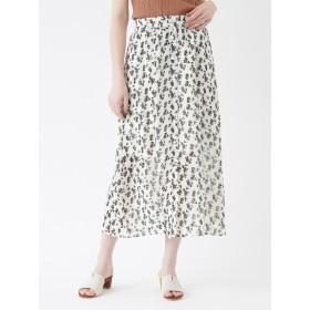 57%OFF titivate (ティティベイト) 花柄フロントボタンスカート ホワイト