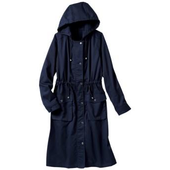 70%OFF【レディース大きいサイズ】 きれいめデザインのモッズコート(洗濯機OK) - セシール ■カラー:ネイビー ■サイズ:4L