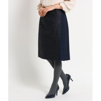 スーナウーナ ジャカードボタニカルスカート レディース ネイビー(493) 34(SS) 【SunaUna】
