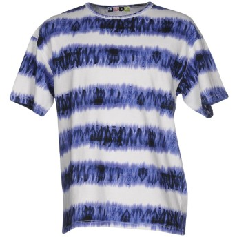 《9/20まで! 限定セール開催中》MSGM メンズ T シャツ ブルー S コットン 100%