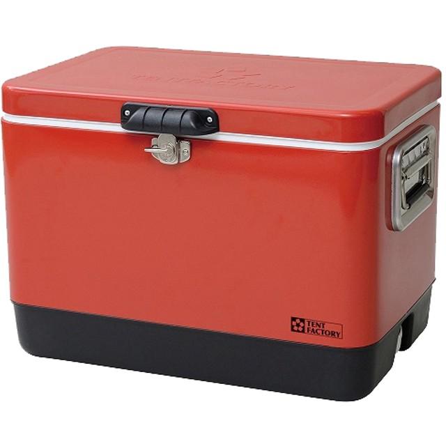 テントファクトリー メタルクーラースチールボックス L TF-MBM51 RE (1個)