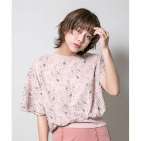 ミリオンカラッツ Million Carats チュールレースアシンメトリーTシャツ (ピンク)