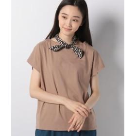 (E hyphen world gallery/イーハイフンワールドギャラリー)Tシャツ+スカーフセット/レディース ベージュ