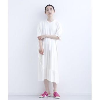 メルロー フリルロングTシャツワンピース レディース ホワイト FREE 【merlot】