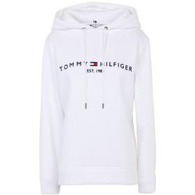 《期間限定セール開催中!》TOMMY HILFIGER レディース スウェットシャツ ホワイト L コットン 64% / ポリエステル 36%
