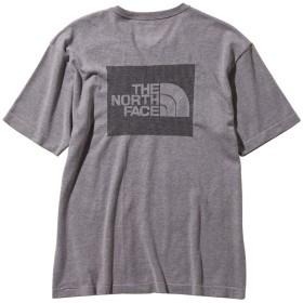 THE NORTH FACE(ノースフェイス) ショートスリーブスクエアロゴジャカードティー男性用 NT11932 ミックスグレー M