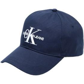 《期間限定セール開催中!》CALVIN KLEIN JEANS メンズ 帽子 ダークブルー one size コットン 100%