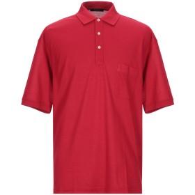 《セール開催中》GRAN SASSO メンズ ポロシャツ レッド 56 コットン 100%
