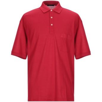 《期間限定セール開催中!》GRAN SASSO メンズ ポロシャツ レッド 56 コットン 100%