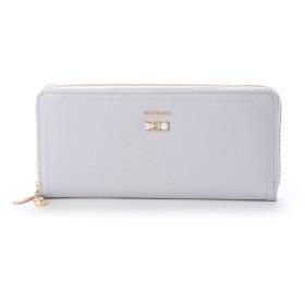 ミッシュマッシュ MISCH MASCH パウダー リボンブローチ付きラウンドファスナー財布 (11)