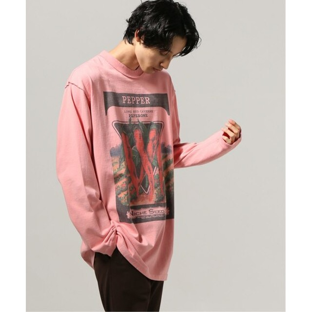 JOURNAL STANDARD RE. MATE×NICHE /リマイト×ニッチVegetables ロングスリーブTシャツ ピンク L
