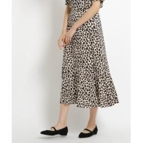 (AG by aquagirl/AG バイ アクアガール)レオパード柄裾フレアスカート/レディース アイボリー(104) 送料無料
