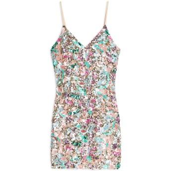 《セール開催中》TOPSHOP レディース ミニワンピース&ドレス ピンク 8 ポリエステル 100% EMBELLISHED SLIP DRESS