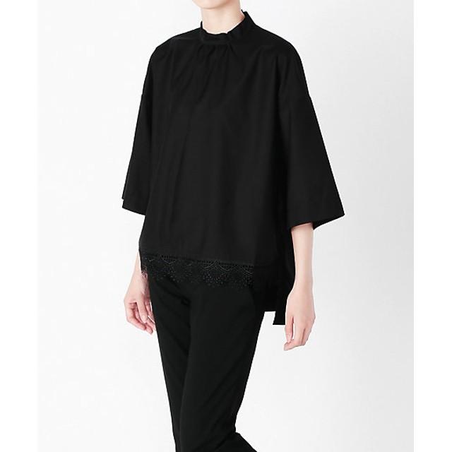 s.t.closet frabjous エスティクローゼットフラブジャス 7分バンド裾レースシャツ