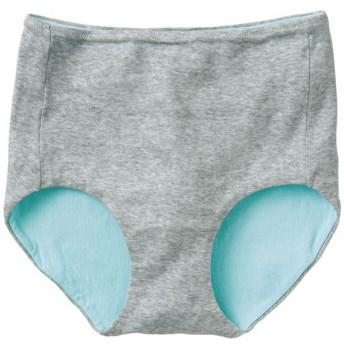 【レディース】 綿100%縫い目が当たりにくいショーツ(はきこみ丈スタンダード) - セシール ■カラー:グレー(杢) ■サイズ:M,L,LL,3L