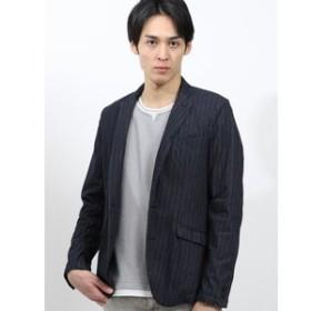【on the day:ジャケット】シャンブレーデニムポンチ 2釦テーラードジャケット