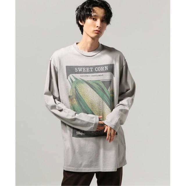 JOURNAL STANDARD RE. MATE×NICHE /リマイト×ニッチVegetables ロングスリーブTシャツ グレーA M