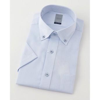 【SALE(三越)】<LORDSON/ロードソン> 半袖色ドビーワイシャツ(ZON611-250)(MO019N0MO00000GIF) 250スカイブルー 【三越・伊勢丹/公式】