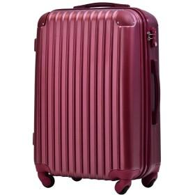 [トラベルハウス] Travelhouse スーツケース 超軽量 TSAロック搭載 ABS 半鏡面仕上げ4輪 ファスナータイプ 【一年安心保証】(ss, winered)