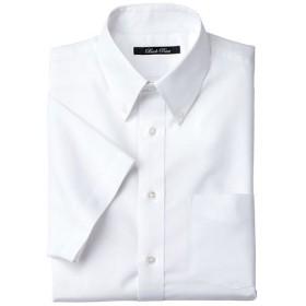 【メンズ】 形態安定ボタンダウンYシャツ(半袖) - セシール ■カラー:ホワイト系 ■サイズ:5L