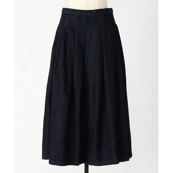 <グランマ ママ ドーター/GRANDMA MAMA DAUGHTER> STANDARD DENIM TUCK PLEATS SKIRT(GK530013 )【三越・伊勢丹/公式】