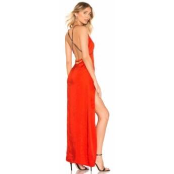バイ ザ ウェイ by the way. レディース ワンピース ワンピース・ドレス Summer Cross Back Maxi Dress Red