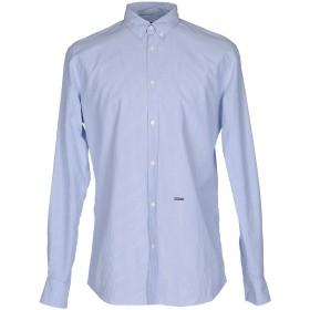 《期間限定 セール開催中》DSQUARED2 メンズ シャツ アジュールブルー 46 コットン 100%