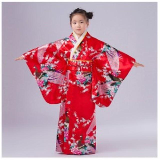 全国トレンド日本の女の赤ちゃん着物ドレス伝統的な子供浴衣子供女の子ダンス衣装子供コスプレドレス Style I