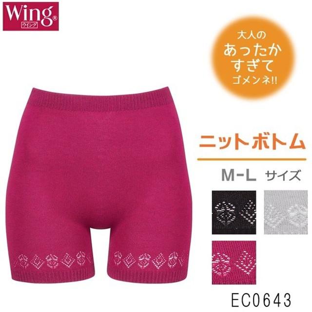 ワコール wacoal ウイング Wing あったか ニットインナー   M-Lサイズ 日本製 EC0643