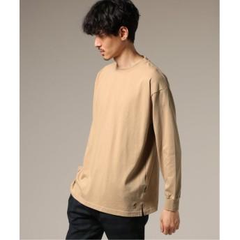 エディフィス KANGOL / カンゴール ×417 別注 ONE POINT ロンスリーブ Tシャツ メンズ ベージュ L 【EDIFICE】