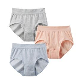 【WEB限定】綿混ストレッチ脇すっきり丸編み成型ショーツ3枚組 スタンダードショーツ,Panties