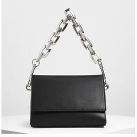 【CHARLES & KEITH:バッグ】【2019 SUMMER】チャンキーチェーンハンドル クロスボディバッグ / Chunky Chain Handle Crossbody Bag